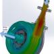 Flow patterns through the 10xHydro turbine
