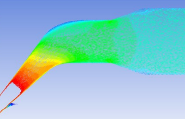 CFD simulation of flow through variant of turbine inlet